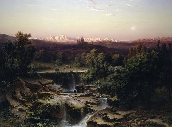Wall Art - Painting - View Of The Escorial And The Sierra De Guadarrama by Fritz Bamberger