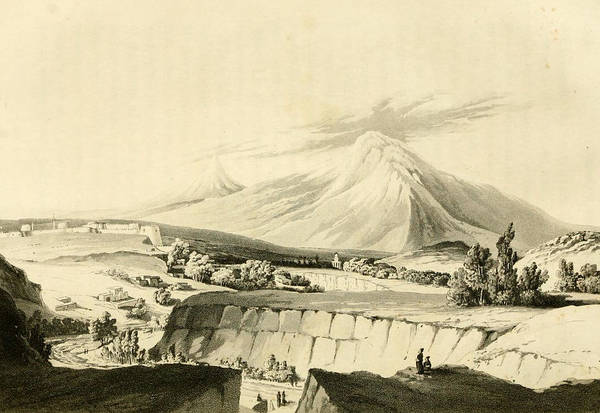 Painting - View Of The Fortress Of Erivan And Ararat  By Robert Ker Porter by Robert Ker Porter