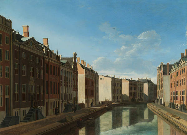 Painting - View Of The Golden Bend In The Herengracht  by Gerrit Adriaensz Berckheyde