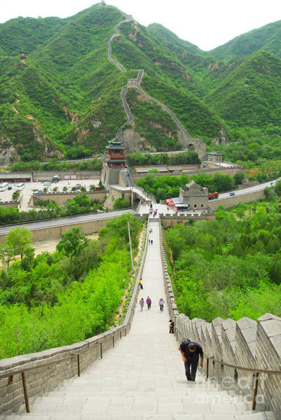 Wall Art - Photograph - View Of The Great Wall Of China, In by Henry Tsui