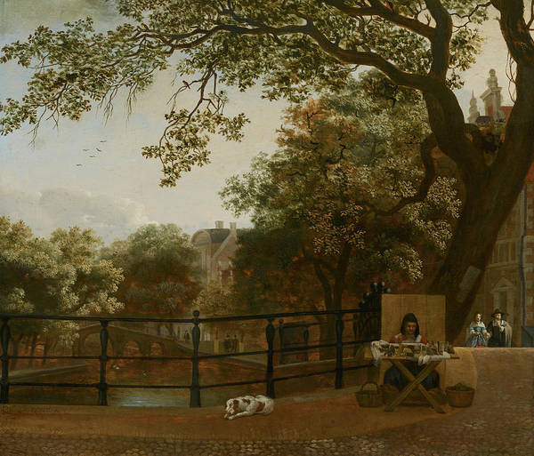Wall Art - Painting - View Of The Herengracht In Amsterdam by Hendrick ten Oever