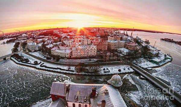 Exterior Wall Art - Photograph - View Of The Historic City Of Vyborg by Olegdoroshin