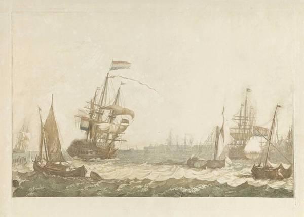 Wall Art - Painting - View Of The Ij With The East India Zeemagazijn And Oosterkerk Johan Teyler Possibly, 1750-1825 by Oosterkerk Johan Teyler