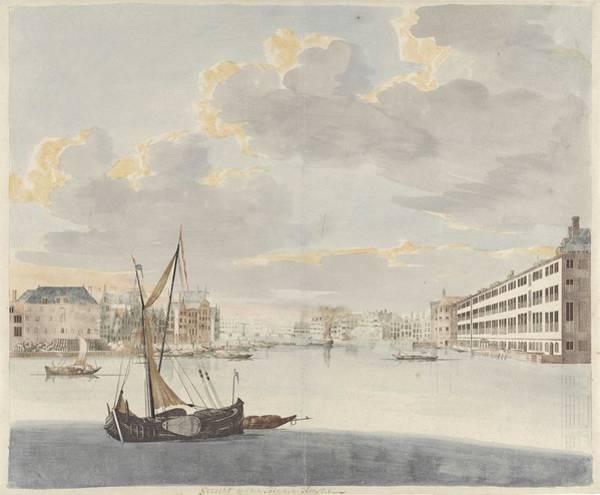 Wall Art - Painting - View Of The Inner Amstel In Amsterdam, Johan Teylerstraat, 1658 - 1712 by Johan Teylerstraat