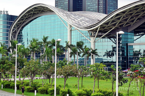 Photograph - View Of The Kaohsiung Exhibition Center by Yali Shi