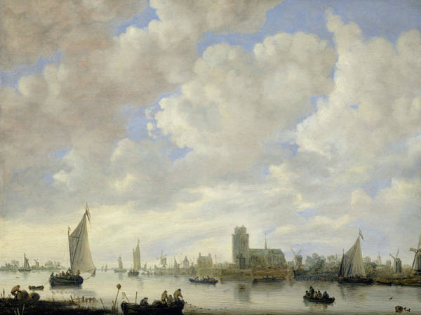 Wall Art - Painting - View Of The Merwede Off Dordrecht by Jeronymus van Diest