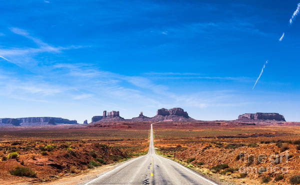 Remote Photograph - View Of The Monument Valley And The by Offfstock