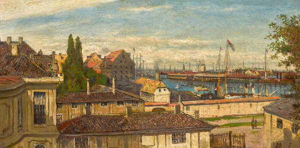 Painting - View Of The Naval Port At Copenhagen From The Windows Of Amalienborg Palace by Alexey Petrovich Bogolyubov