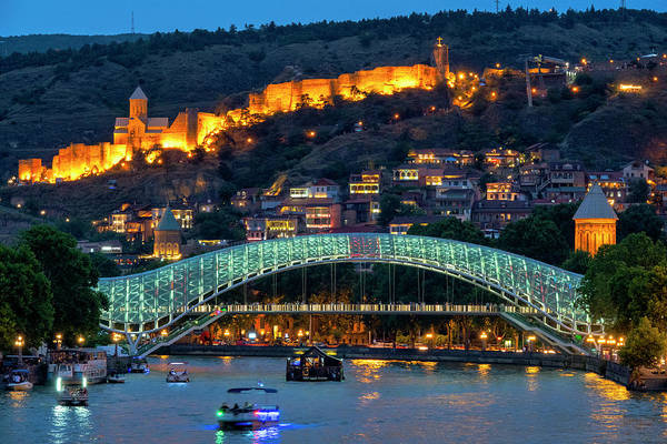 Photograph - View Of The Old Town Of Tbilisi  by Fabrizio Troiani