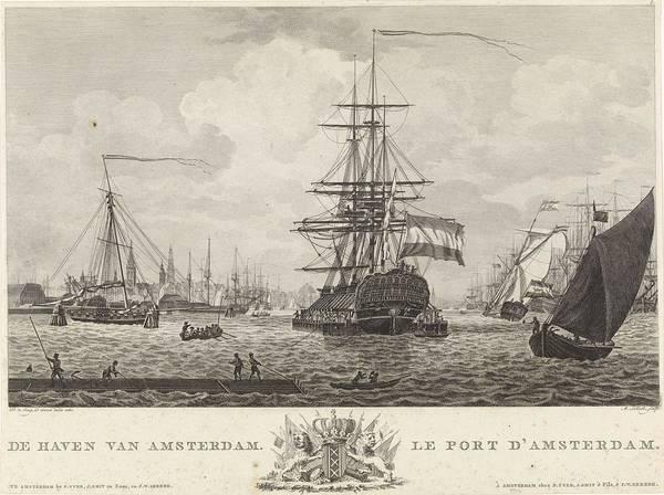 Wall Art - Painting - View Of The Port Of Amsterdam, The Sallieth Mathias, After Dirk De Jong, 1780 - 1787 by Dirk de Jong