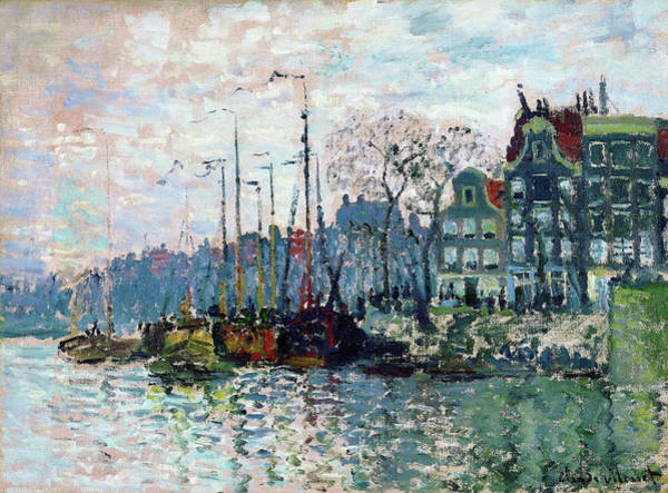 Wall Art - Painting - View Of The Prins Hendrikkade And The Kromme Waal In Amsterdam - Digital Remastered Edition by Claude Monet