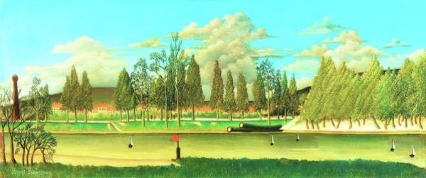 Wall Art - Painting - View Of The Quai Asnieres-the Canal And Landscape With Tree Trunks - Digital Remastered Edition by Henri Rousseau