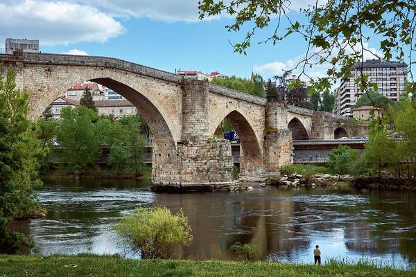 Photograph - View Of The Roman Bridge And The Minho River by Fine Art Photography Prints By Eduardo Accorinti
