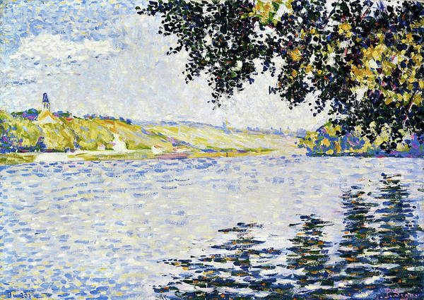 Neo-impressionism Wall Art - Painting - View Of The Seine At Herblay - Digital Remastered Edition by Paul Signac