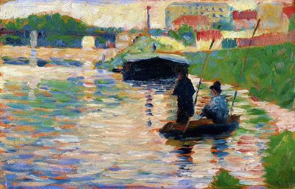 Wall Art - Painting - View Of The Seine - Digital Remastered Edition by Georges Seurat