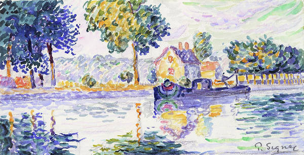 Wall Art - Painting - View Of The Seine, Samois - Digital Remastered Edition by Paul Signac