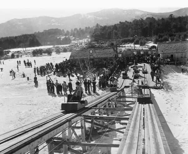 North Conway Photograph - View Of The Skimobile At The Cranmore by Bert Morgan