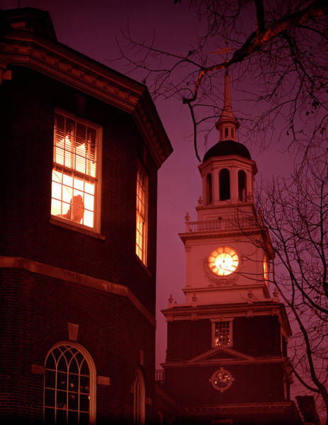Merchandise Photograph - View Of The Tower Of Independence Hall by Yale Joel