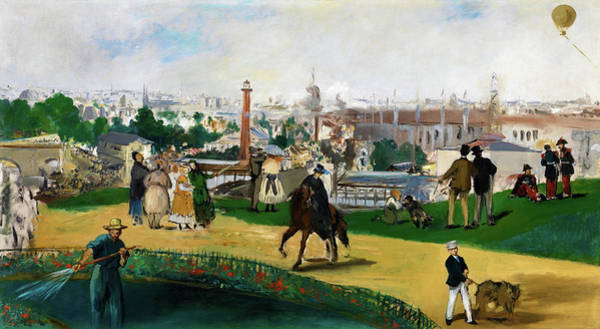 Music City Painting - View Of The Universal Exhibition Of Paris - Digital Remastered Edition by Edouard Manet