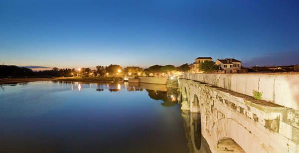 View Of Tiberio Bridge Art Print by Maremagnum