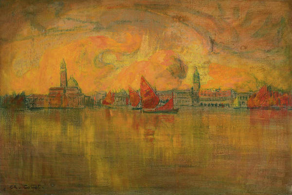 Point Of View Wall Art - Painting - View Of Venice From The Sea, 1896 by Charles Cottet