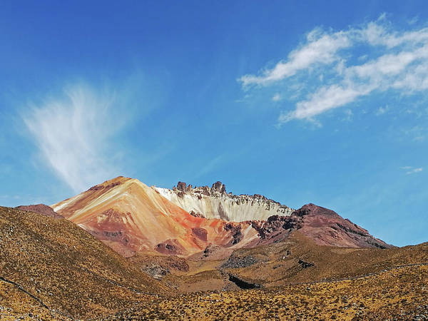 Wall Art - Photograph - View Of Volcan Tahua, Salar De Uyuni by Anthony Asael