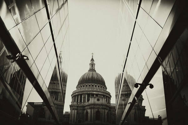 Sparse Photograph - View On St.paul Cathedral, London by Anouchka