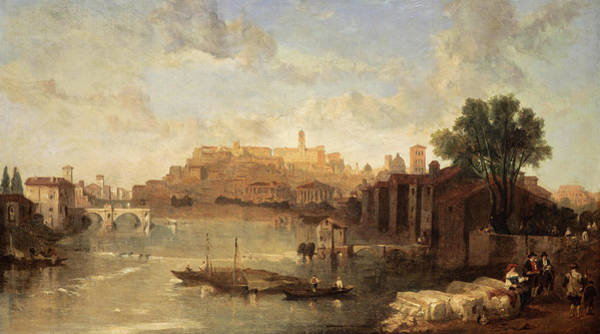 Wall Art - Painting - View On The Tiber, Rome, 1862 by David Roberts