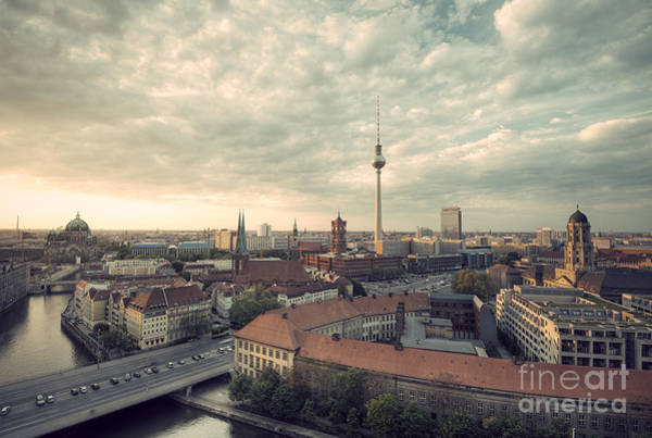 Wall Art - Photograph - View Over Berlin Mitte At Evening by Ar Pictures