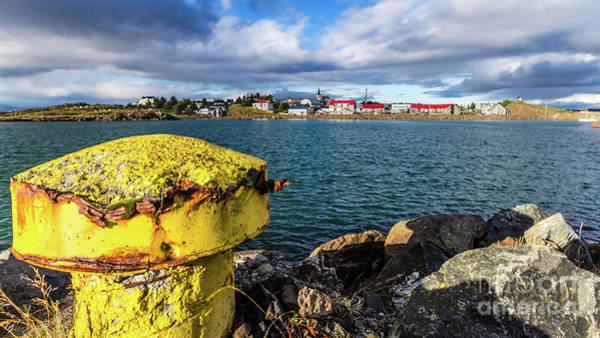 Photograph - View Over Borgarnes From Brakarey, Iceland by Lyl Dil Creations