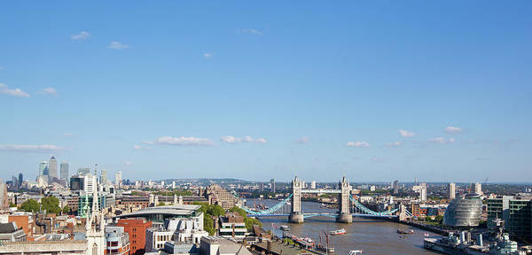 Canary Wharf Photograph - View Over East London by Tom Bonaventure