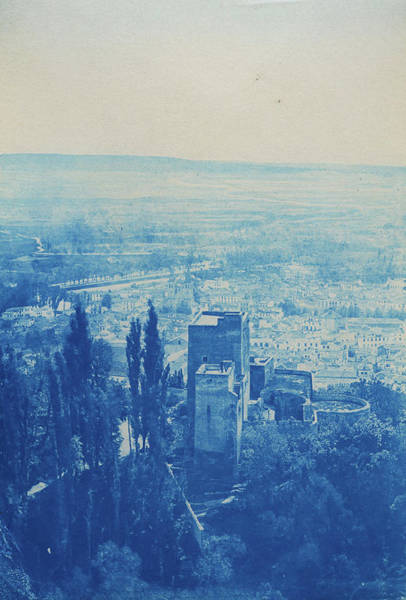 Painting - View Over Granada In Andalusia. In The Foreground Is Torres Bermejas Of The Alhambra. by Celestial Images