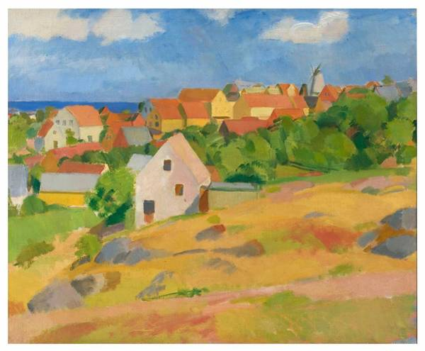 Wall Art - Painting - View Over Gudhjem By Karl Isakson, 1921 by Karl Isakson