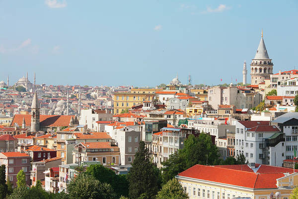Galata Photograph - View Over Istanbul, Istanbul, Turkey by Laurie Noble