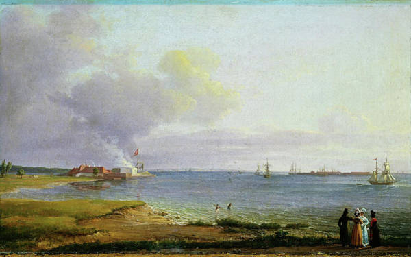 Wall Art - Painting - View Over Oresund Near The Lime Works - Digital Remastered Edition by Johan Christian Dahl