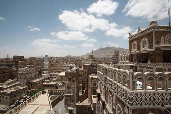 Mud House Photograph - View Over Sanas Mud Houses, Sanaa, Yemen by Katarina Premfors