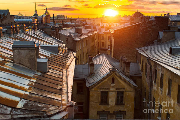Wall Art - Photograph - View Over The Rooftops Of The Historic by De Visu