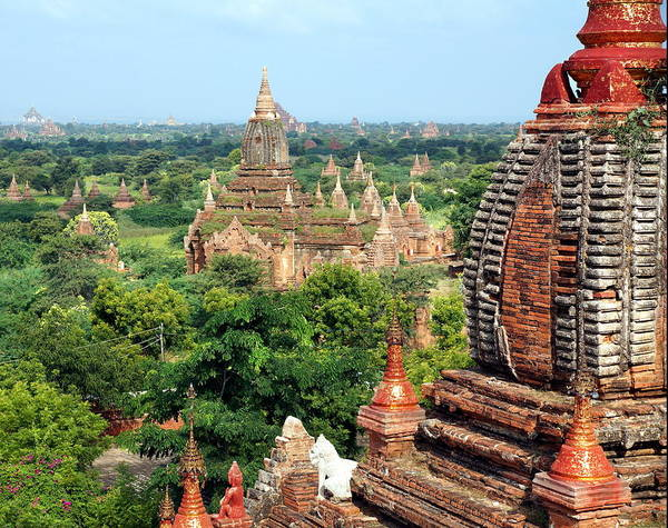 Myanmar Photograph - View Over The Valley Of Bagan by Chantal