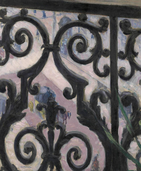 Wall Art - Painting - View Seen Through A Balcony by Gustave Caillebotte