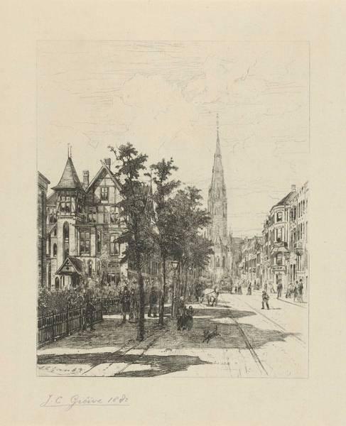 Wall Art - Painting - View The Vondelstraat In Amsterdam, Johan Conrad Greive, 1882 by Johan Conrad Greive