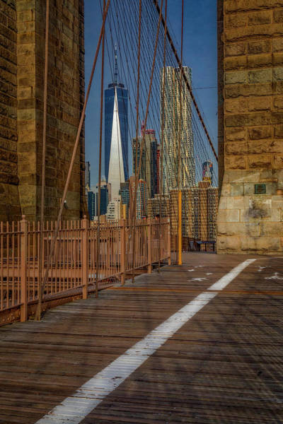 Photograph - View To Wtc Lower Manhattan Nyc by Susan Candelario