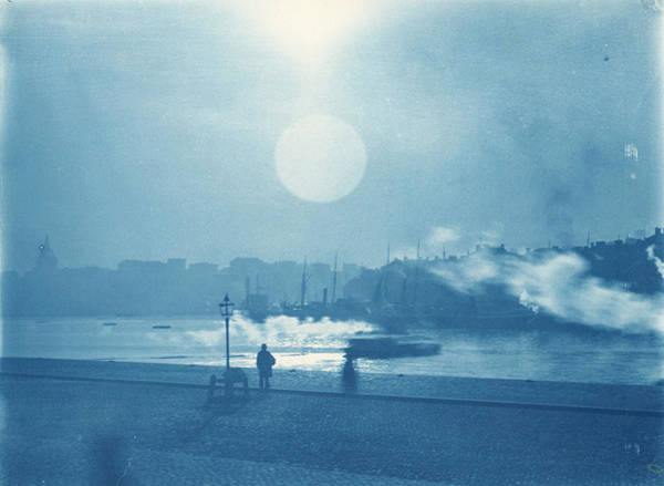 Painting - View Towards The Old Town And The Southern Part Of Stockholm City 1900 Cyanotype,  Carl Curman by Celestial Images