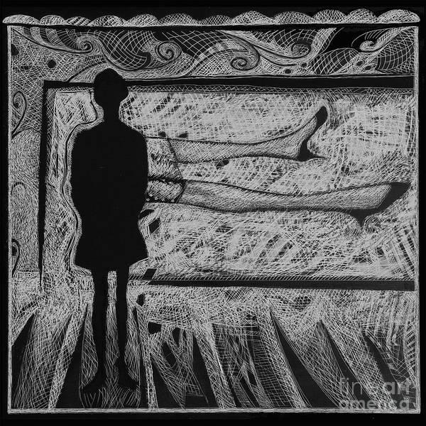 Viewing Supine Woman. Art Print