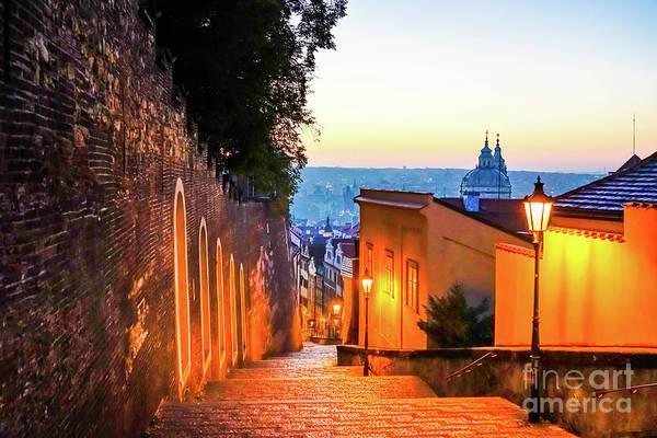Wall Art - Photograph - Views In Prague At Sunrise by DAC Photo