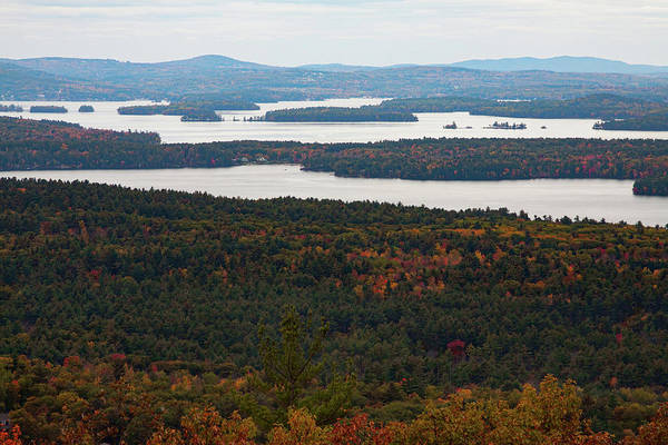 Photograph - Views Of  Moultonborough Bay In Fall Colors by Jeff Folger
