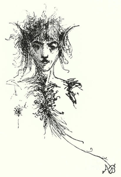 Wall Art - Painting - Vignette For The Afternoon Of The Faun By Mallarme by Aubrey Beardsley