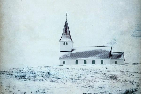 Photograph - Vik I Myrdal Church In Snow by Kathryn McBride