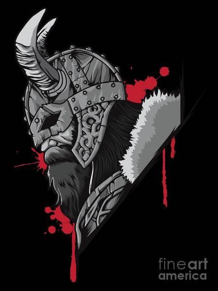Valkyrie Digital Art - Viking Warrior Raven Odin Valhalla Valknut Loki by Mister Tee