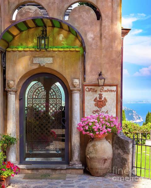 Photograph - Villa Cimbrone Front Gate by Brian Jannsen