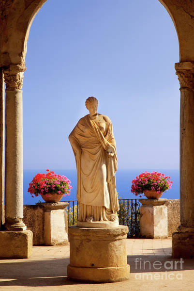 Photograph - Villa Cimbrone Statue by Brian Jannsen